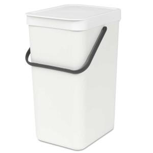 SORT & GO פח הפרדה 16 ליטר פלסטיק, לבן - Brabantia