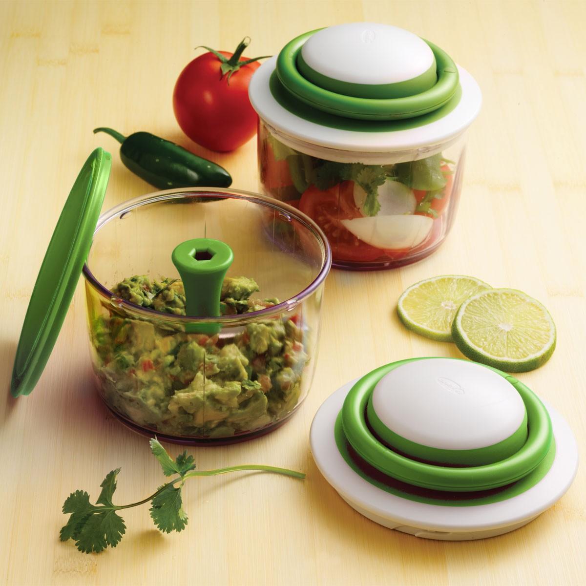 VeggiChop מעבד מזון ידני, ללא חשמל Chef\'n, ללא BPA