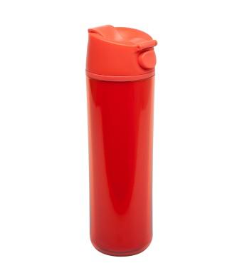 אלדין - Flip & Sip כוס תרמית אדומה, פלסטיק 0.47 ליטר + הנחה 10% לנרשמים לניוזלטר