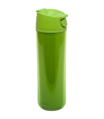 Flip & Sip - אלדין - כוס תרמית ירוקה, פלסטיק 0.47 ליטר, ללא BPA + הנחה 10% לנרשמים לניוזלטר