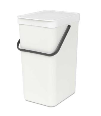 SORT & GO פח הפרדה 16 ליטר פלסטיק, לבן - Brabantia + הנחה 10% לנרשמים לניוזלטר