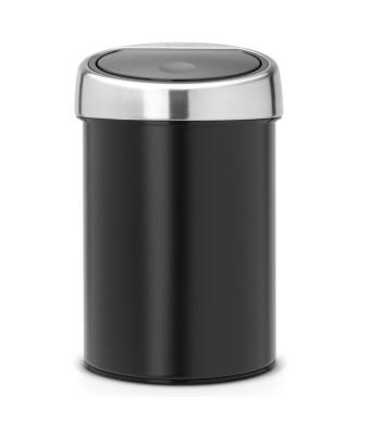 פח טאץ 3 ליטר שחור, כולל תליה Brabantia + הנחה 10% לנרשמים לניוזלטר