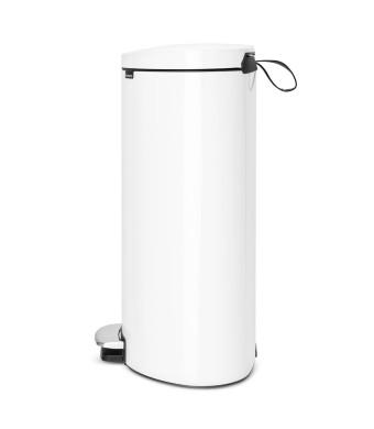 פח פדל אובלי - גב שטוח, 40 ליטר לבן  Brabantia + הנחה 10% לנרשמים לניוזלטר + המשלוח חינם