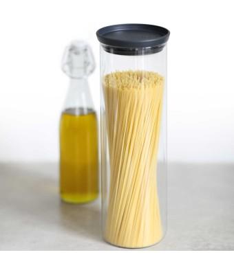 מיכל זכוכית, מכסה אפור כהה 1.9 ליטר Brabantia + הנחה 10% לנרשמים לניוזלטר