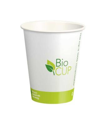 BioCUP כוסות נייר מתכלות לשתיה חמה וקרה 250 מ״ל - קרטון 1000 כוסות אקולוגיותבמחיר מיוחד ללקוחות BRASS + מקבלים דיספנסר לכוסות נייר אוניברסלי למטבח ב10 ש״ח בלבד!