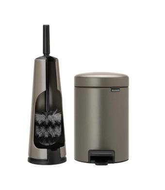 סט לשירותים פלטינום Brabantia: פח פדל 3 ליטר NewIcon + מברשת אסלה קונית ברבנטיה + הנחה 10% לנרשמים לניוזלטר + משלוח חינם!