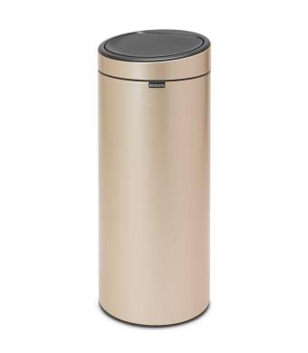 פח טאץ 30 ליטר בצבע שמפניה Brabantia  + הנחה 10% לנרשמים לניוזלטר