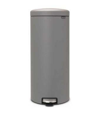 פח פדל 30 ליטר אפור בטון מינרלי Brabantia - NewIcon  + הנחה 10% לנרשמים לניוזלטר