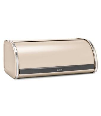 קופסת לחם גדולה בצבע שמפניה - מכסה מתגלגל Brabantia + הנחה 10% לנרשמים לניוזלטר