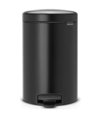 פח פדל 12 ליטר שחור מט  Brabantia - NewIcon + הנחה 10% לנרשמים לניוזלטר