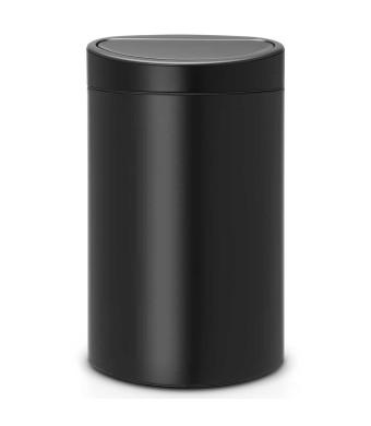 פח טאץ אובלי 40 ליטר שחור מט Brabantia