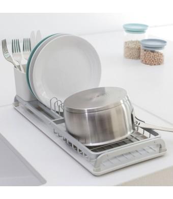 קנו מתקן ייבוש כלים קטן - אפור בהיר Brabantia + קבלו מתנה זוג מגבות מטבח לכלים + הנחה 10% לנרשמים לניוזלטר + משלוח חינם