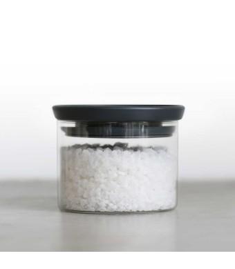 מיכל זכוכית, מכסה שחור 0.3 ליטר Brabantia + הנחה 10% לנרשמים לניוזלטר