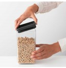 מיכל אחסון פלסטיק שקוף 1.6 ליטר, מכסה אפור כהה Brabantia - ללא BPA + עכשיו במבצע 30% הנחה!