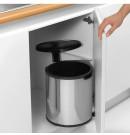 פח אשפה פנימי למטבח - מתחת לכיור 15 ליטר מבריק, נירוסטה Brabantia + הנחה 10% לנרשמים לניוזלטר ומשלוח חינם