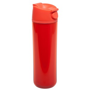 אלדין - Flip & Sip כוס תרמית אדומה, פלסטיק 0.47 ליטר