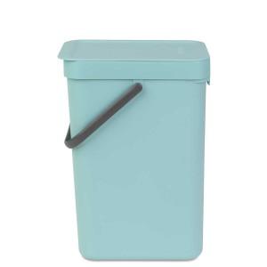 SORT & GO פח הפרדה 12 ליטר פלסטיק, מינט - Brabantia + הנחה 10% לנרשמים לניוזלטר