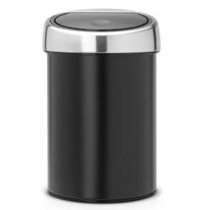 פח טאץ 3 ליטר שחור, כולל תליה Brabantia + המחיר ירד + הנחה 10% לנרשמים לניוזלטר + משלוח חינם!