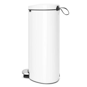פח פדל אובלי - גב שטוח, 40 ליטר לבן  Brabantia  + הנחה 10% לנרשמים לניוזלטר
