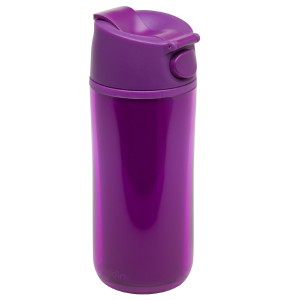 Flip & Sip - אלדין - כוס תרמית סגולה, פלסטיק  0.35 ליטר, ללא BPA