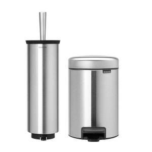 סט לשירותים מט Brabantia: פח פדל 3 ליטר NewIcon + מברשת אסלה עם אפשרות תלייה ברבנטיה + הנחה 10% לנרשמים לניוזלטר + משלוח חינם!