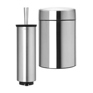 סט לשירותים, נתלה מט Brabantia: פח סלייד נתלה מט 5 ליטר + מברשת אסלה עם אפשרות תלייה ברבנטיה + הנחה 10% לנרשמים לניוזלטר + משלוח חינם