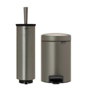 סט לשירותים פלטינום Brabantia: פח פדל 3 ליטר NewIcon + מברשת אסלה עם אפשרות תלייה ברבנטיה + הנחה 10% לנרשמים לניוזלטר + משלוח חינם!