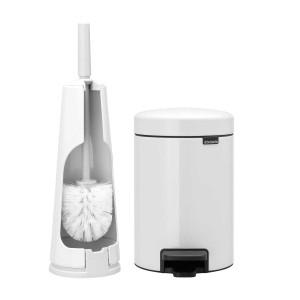 סט לשירותים לבן Brabantia: פח פדל 3 ליטר NewIcon + מברשת אסלה קונית ברבנטיה + הנחה 10% לנרשמים לניוזלטר + משלוח חינם!