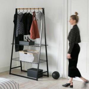 LINN מתלה בגדים עומד רחב, שחור - Brabantia + הנחה 10% לנרשמים לניוזלטר + משלוח חינם!