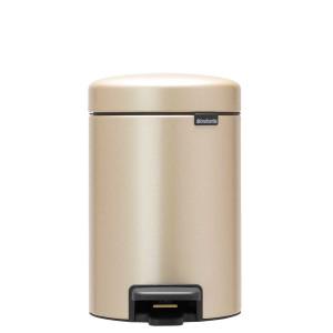 פח פדל 3 ליטר בצבע שמפניה Brabantia - NewIcon + הנחה 10% לנרשמים לניוזלטר