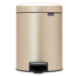 פח פדל 5 ליטר בצבע שמפניה Brabantia - NewIcon + הנחה 10% לנרשמים לניוזלטר + משלוח חינם