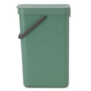 SORT & GO פח הפרדה 16 ליטר פלסטיק, ירוק אשוח - Brabantia + הנחה 10% לנרשמים לניוזלטר