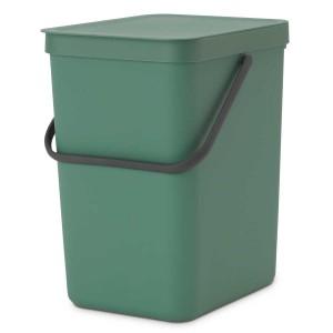 SORT & GO פח הפרדה 25 ליטר פלסטיק, ירוק אשוח - Brabantia + הנחה 10% לנרשמים לניוזלטר