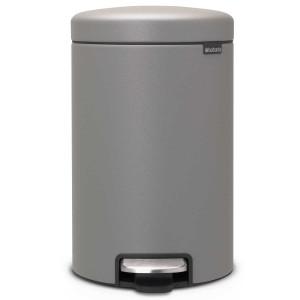 פח פדל 12 ליטר אפור בטון מינרלי Brabantia - NewIcon + הנחה 10% לנרשמים לניוזלטר