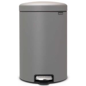 פח פדל 20 ליטר אפור בטון מינרלי Brabantia - NewIcon + הנחה 10% לנרשמים לניוזלטר