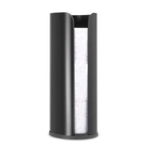 דיספנסר לגלילי נייר טואלט שחור מט Brabantia - ReNew+ הנחה 10% לנרשמים לניוזלטר
