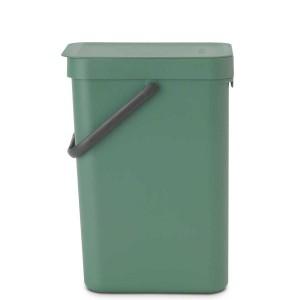 SORT & GO פח הפרדה 12 ליטר פלסטיק, ירוק אשוח - Brabantia + הנחה 10% לנרשמים לניוזלטר
