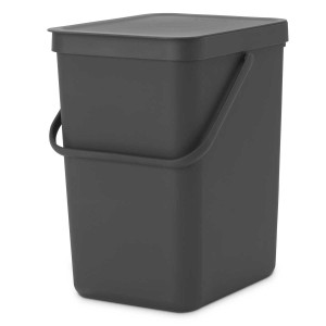 SORT & GO פח הפרדה 25 ליטר פלסטיק, אפור - Brabantia + הנחה 10% לנרשמים לניוזלטר
