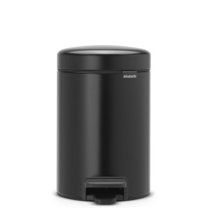 פח פדל 3 ליטר שחור מט Brabantia - NewIcon + הנחה 10% לנרשמים לניוזלטר